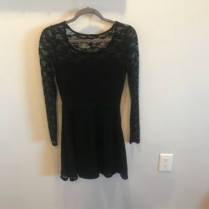 Lacey black dress